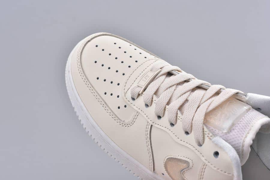 Giày Thể Thao Nike Air Force 1 Low Jelly Puff Pale Ivory nhìn từ trên xuống
