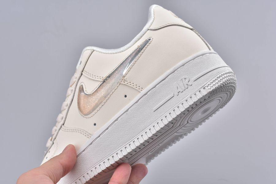 Giày Thể Thao Nike Air Force 1 Low Jelly Puff Pale Ivory nhìn dưới lên