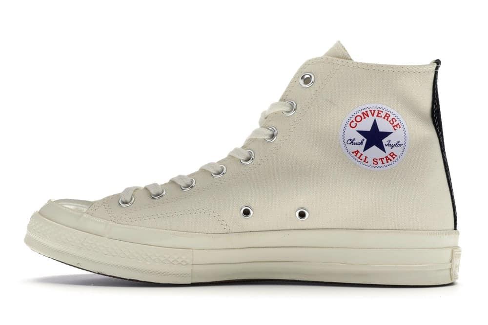 Thân giày Converse Tim cổ cao trắng sữa (1970s CDG) Rep 1:1