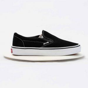 Giày Vans Classic Slip On Black White Nam Nữ