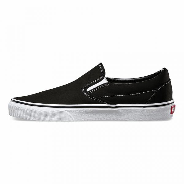 VANS CLASSIC SLIP ON BLACK WHITE 5