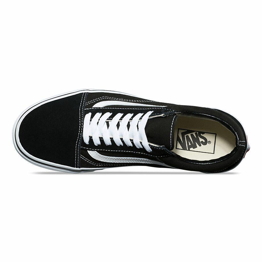 Nhìn từ trên xuoogs Vans đen Old Skool Classic Black Vans vault Rep 1:1
