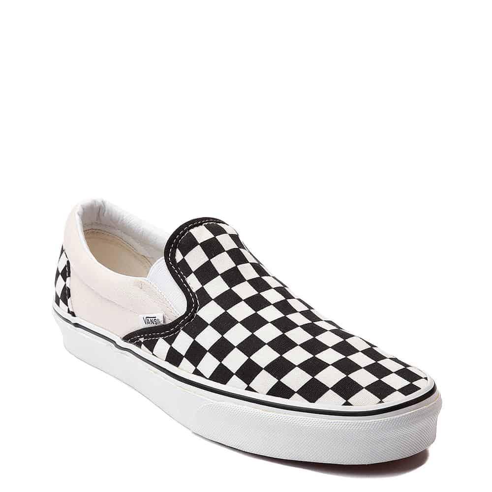 Vans Slip On Checkerboard Skate Shoe Black White 1