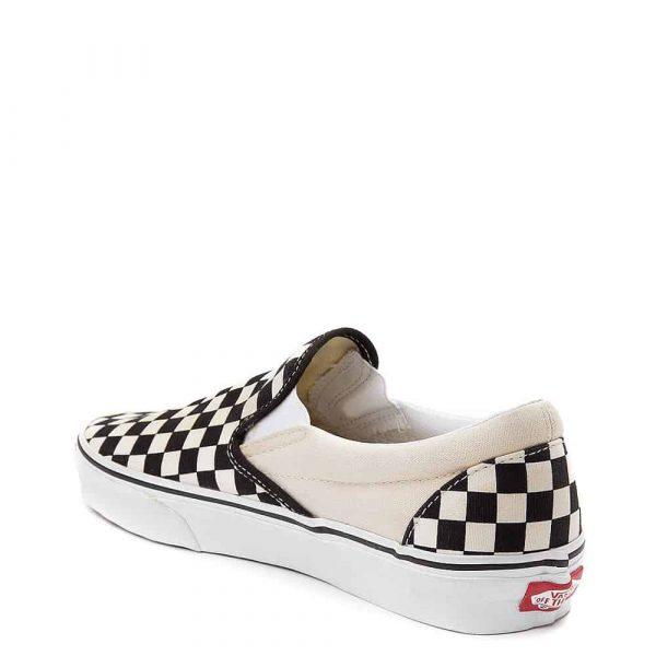 Vans Slip On Checkerboard Skate Shoe Black White 2
