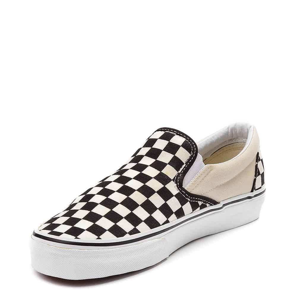 Vans Slip On Checkerboard Skate Shoe Black White 3