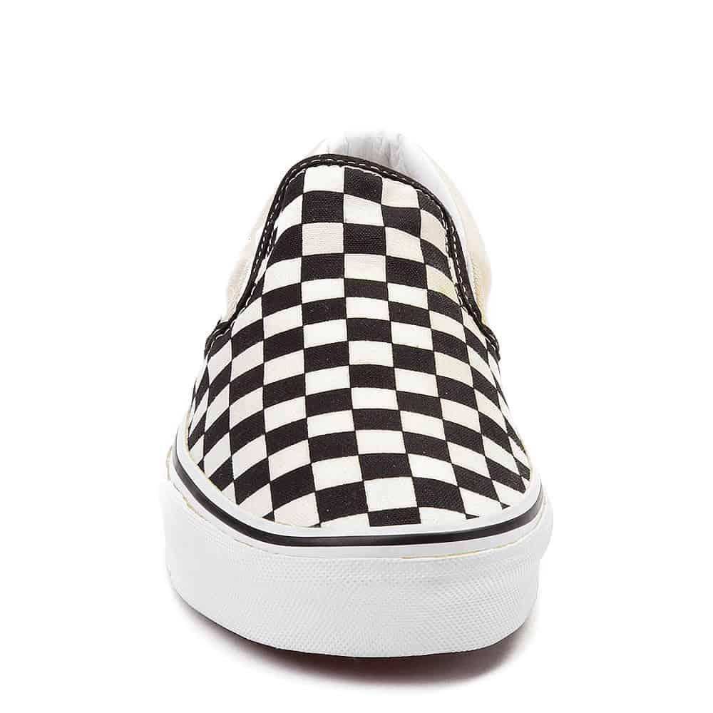 Vans Slip On Checkerboard Skate Shoe Black White 4