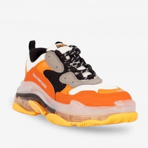 Giày Balenciaga Cam Triple S Clear Sole Orange Grey Black giá tốt