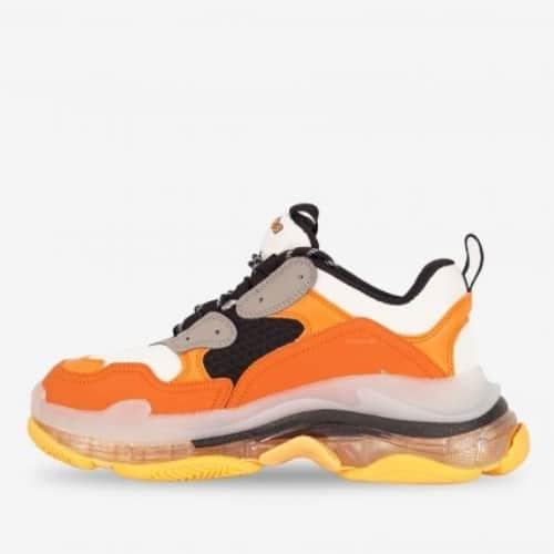 Giày Balenciaga Cam Triple S Clear Sole Orange Grey Black uy tín