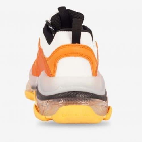 Giày Balenciaga Cam Triple S Clear Sole Orange Grey Black chất lượng