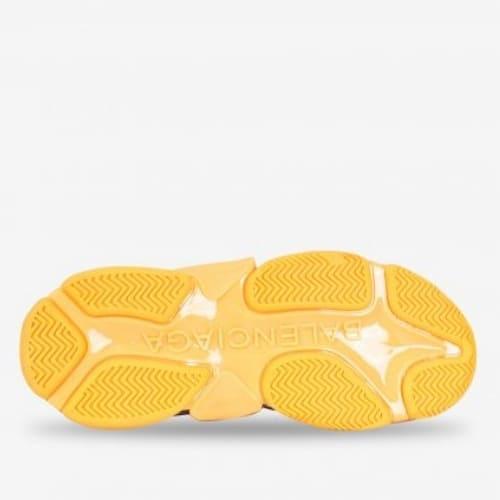 Giày Balenciaga Cam Triple S Clear Sole Orange Grey Black