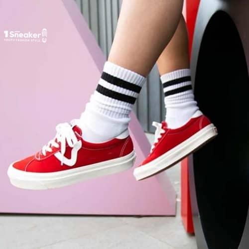 Giày Vans đỏ của dòng Anaheim Factory Style 73 DX