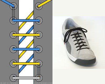 Kiểu thắt dây giày hình chữ Z