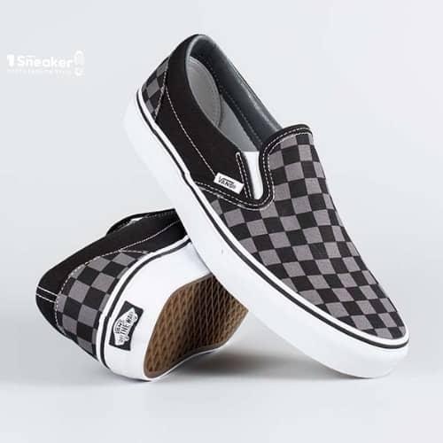 Thiết kế giày Vans caro của dòng Slip On
