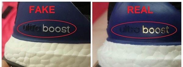 Cach nhan biet giay adidas chinh hang bang dong chu ultraboost