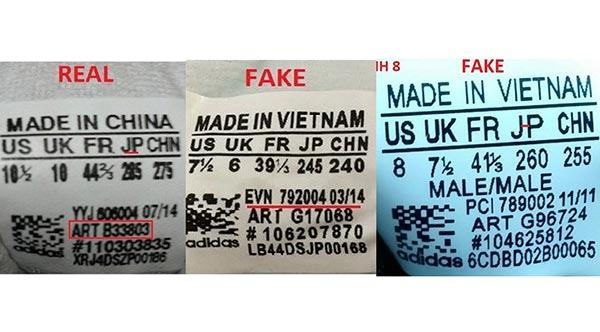 Cach nhan biet giay adidas that bang check code adidas shoes ART