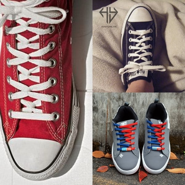 cach buoc day giay converse co thap loopback