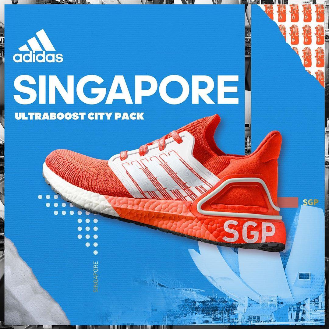 Adidas Ultra Boost 20 Singapore mau do cuc chat