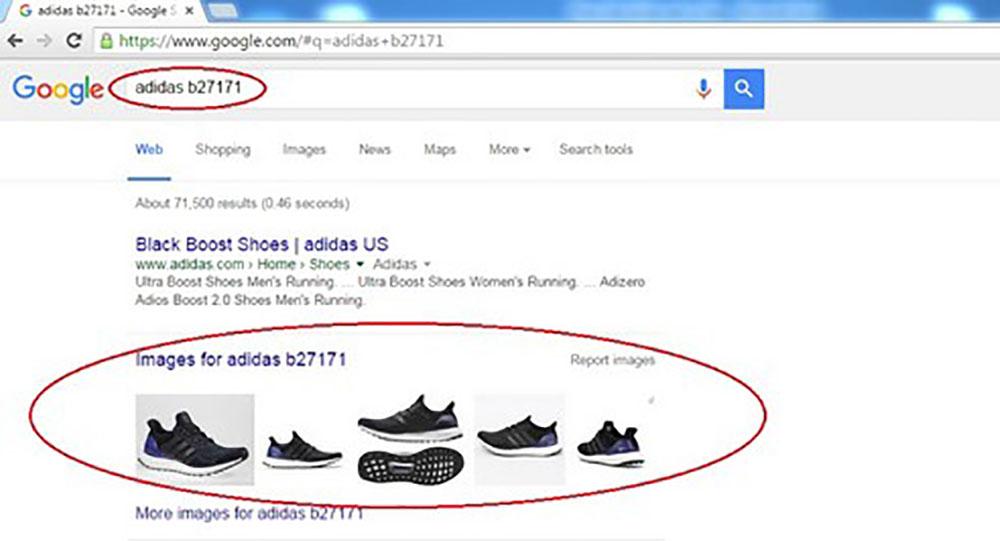 Ban vao Google va go Adidas B27171