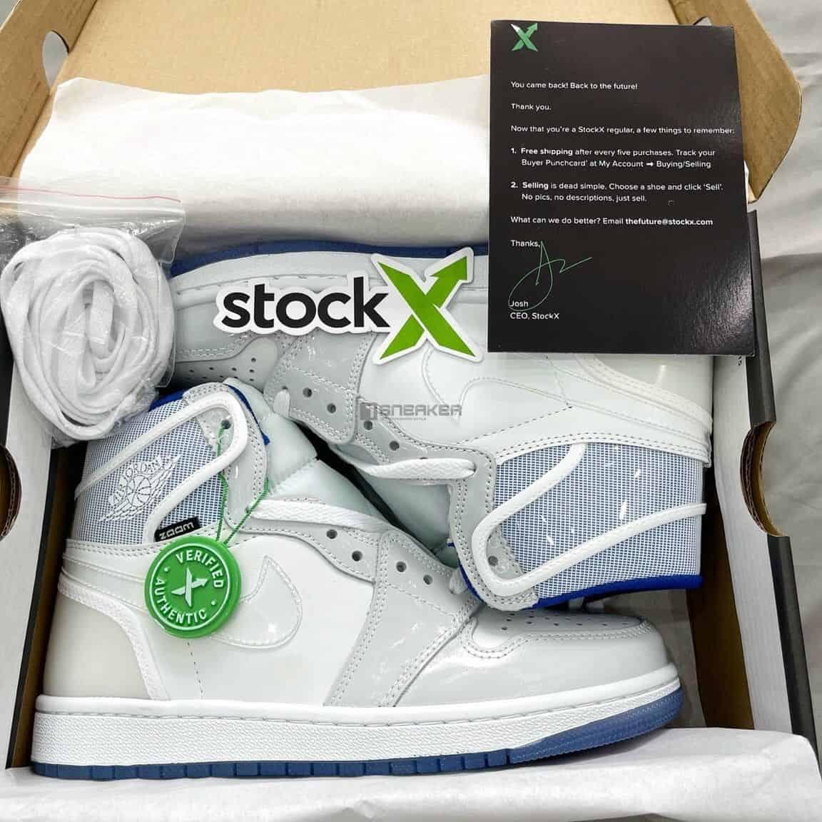 Air Jordan 1 High Zoom Racer Blue tổng quan đôi giày
