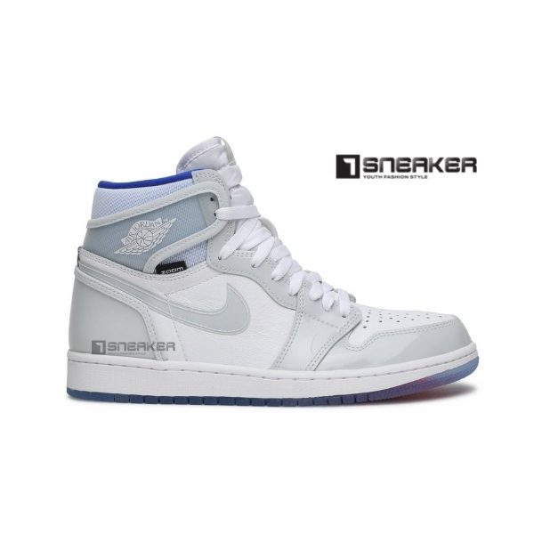 Authentic Jordan 1 Retro Zoom White Racer Blue