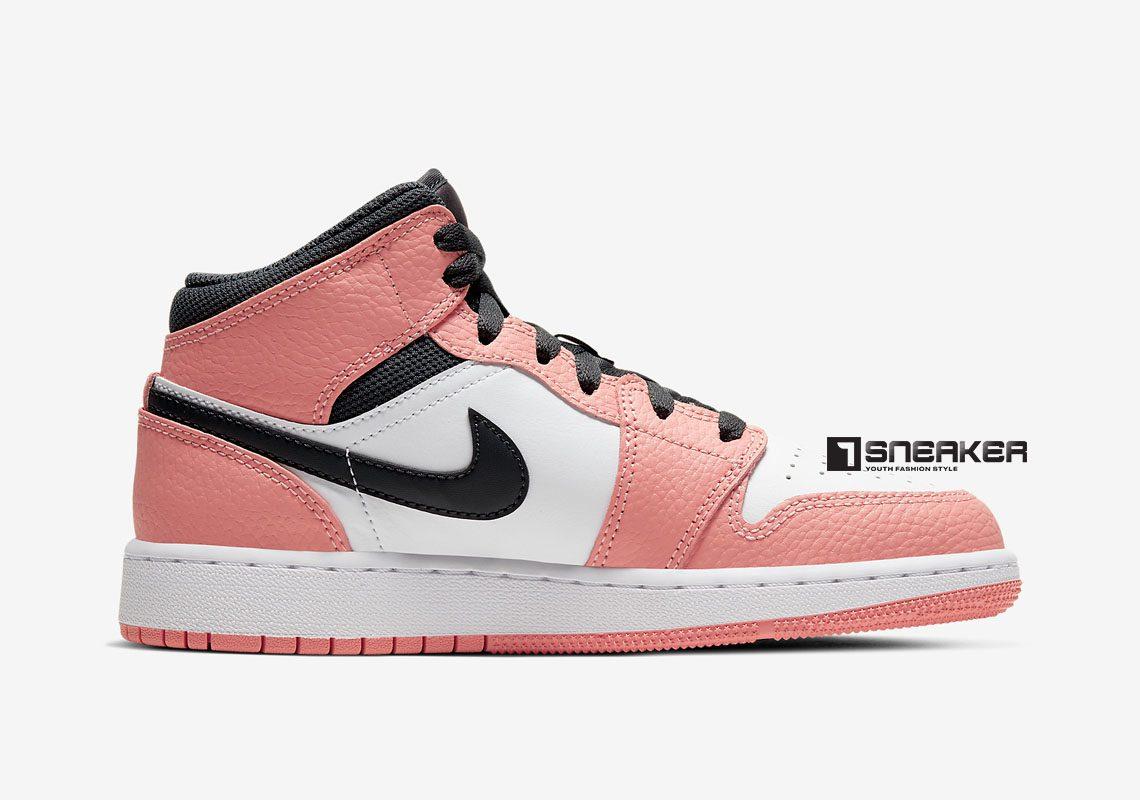 Nike Jordan 1 Mid GS Pink Quartz
