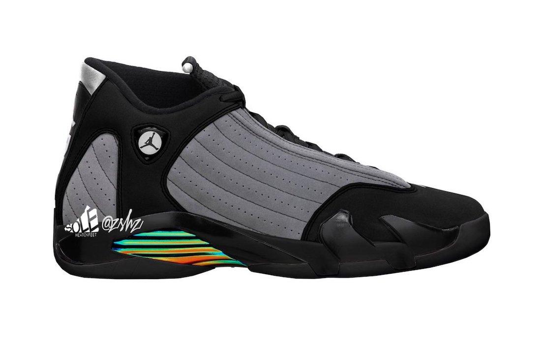 Air Jordan 14 BlackParticle Grey 56