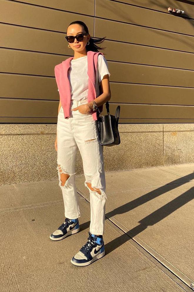 Ao thun Quan jeans ong thang Sweater mau sac 2