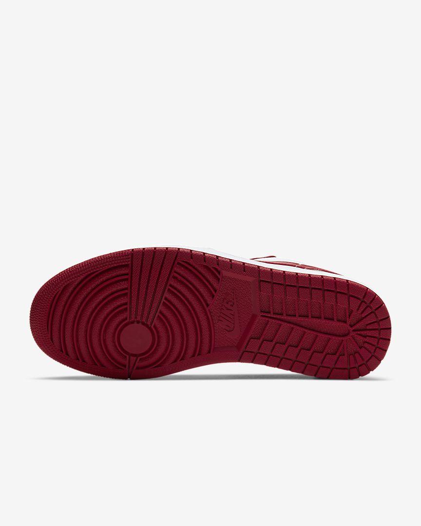 Jordan 1 Low Gym Red White mặt đế