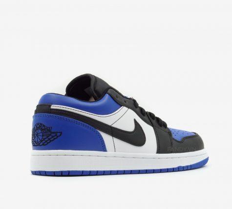 Tổng quan giày Nike Air Jordan 1 Low 'Royal Toe' nhìn từ phía sau