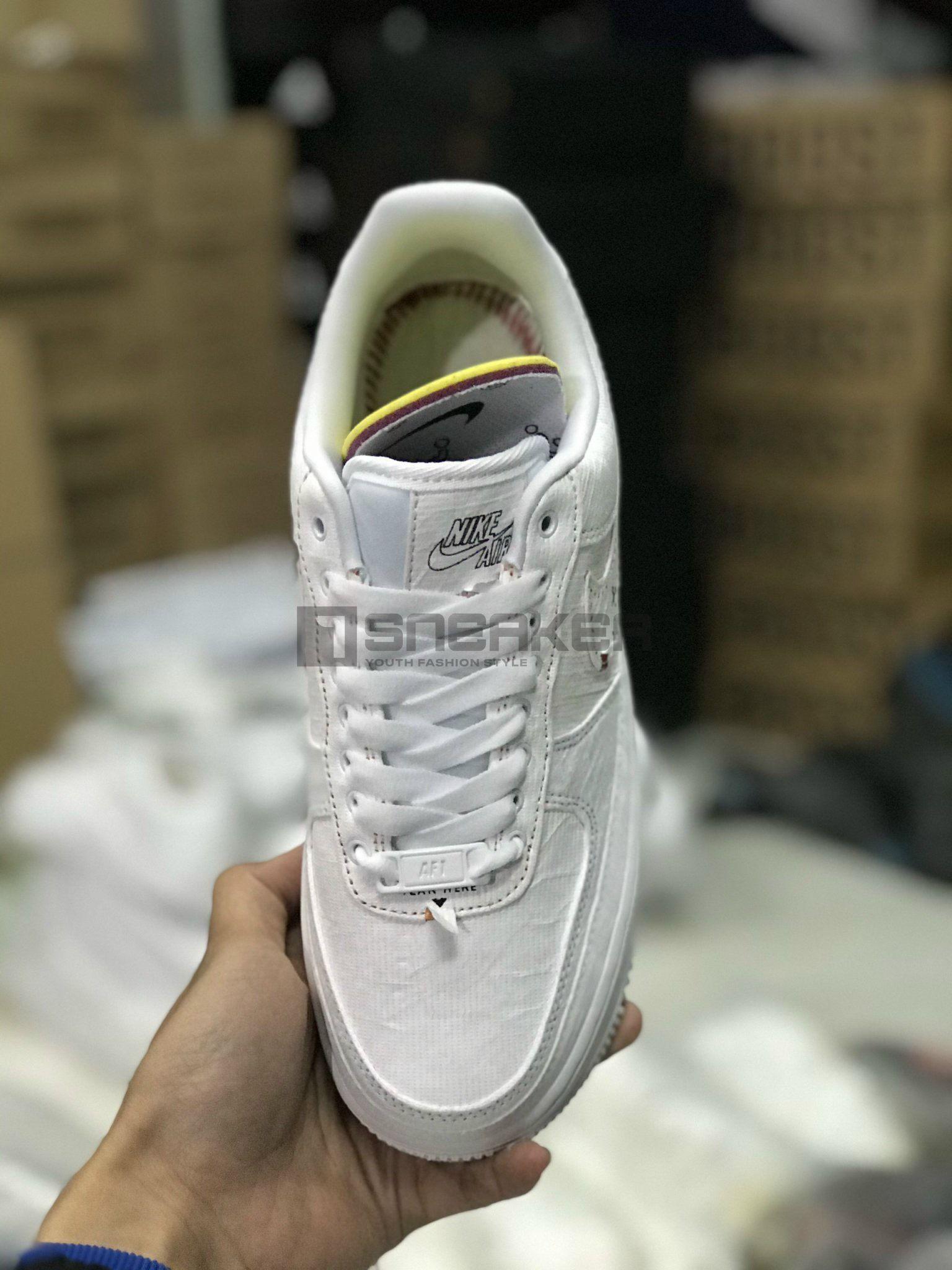 Nike Air Force 1 All-White GIÀY NIKE XÉ REP 1:1 đế khâu chỉ đỏ siêu chắc
