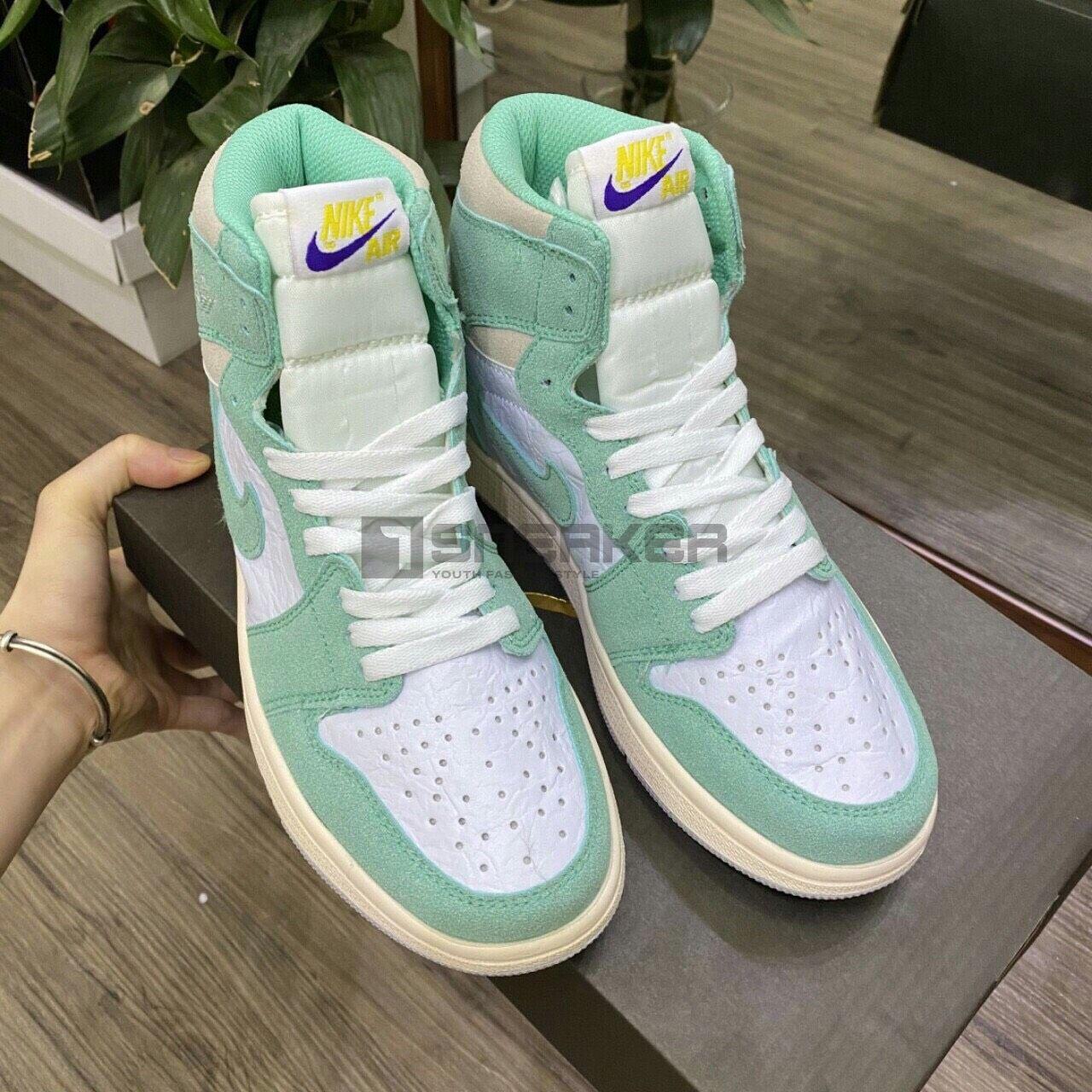 Nike Air Jordan 1 Retro High Turbo Green (xanh lam) REP 1:1