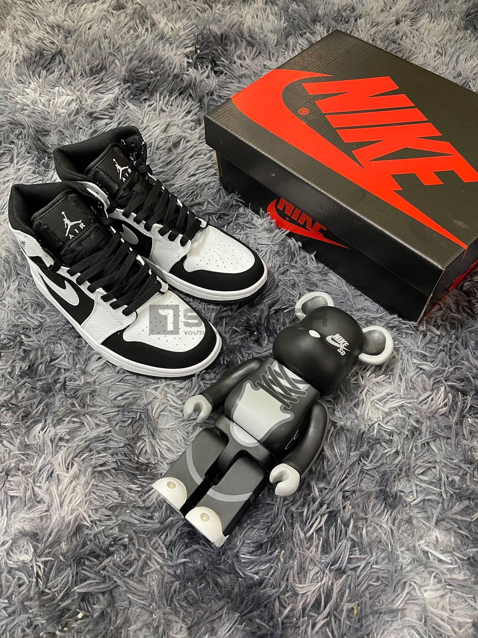 Nike Air Jordan1 Trắng Đen Cổ Cao tốt nhất