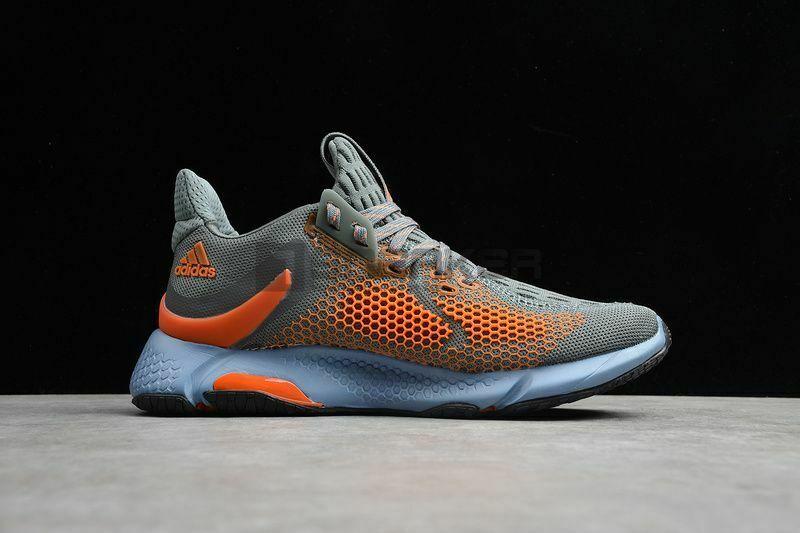 Mặt hông bên phải Giày Adidas Alphabounce Instinct M Xám Cam