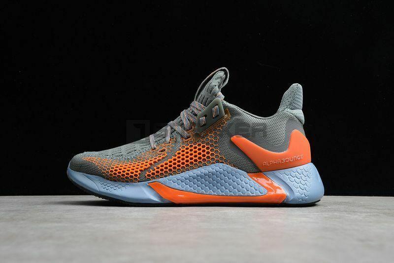 Mặt hông bên trái Giày Adidas Alphabounce Instinct M Xám Cam