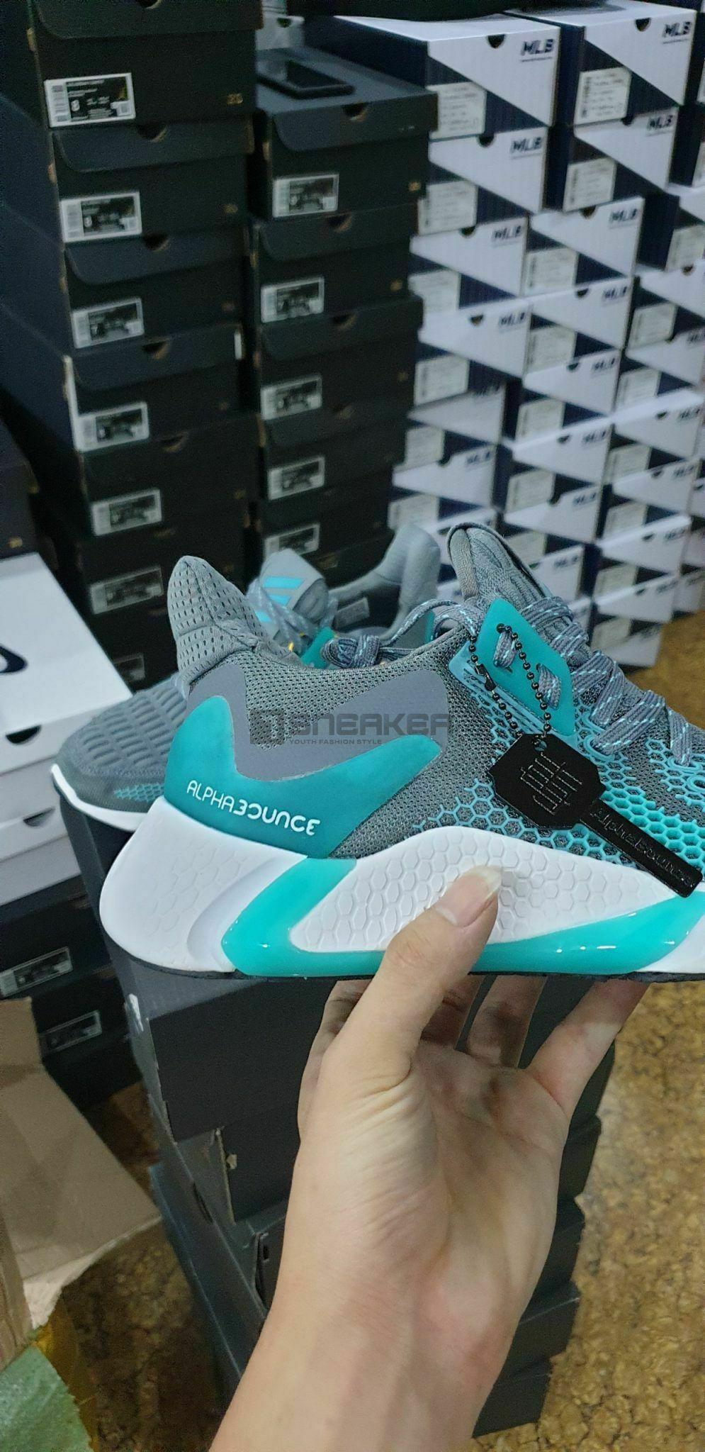 Giay Adidas Alphabounce Instinct M Xanh Xam 7