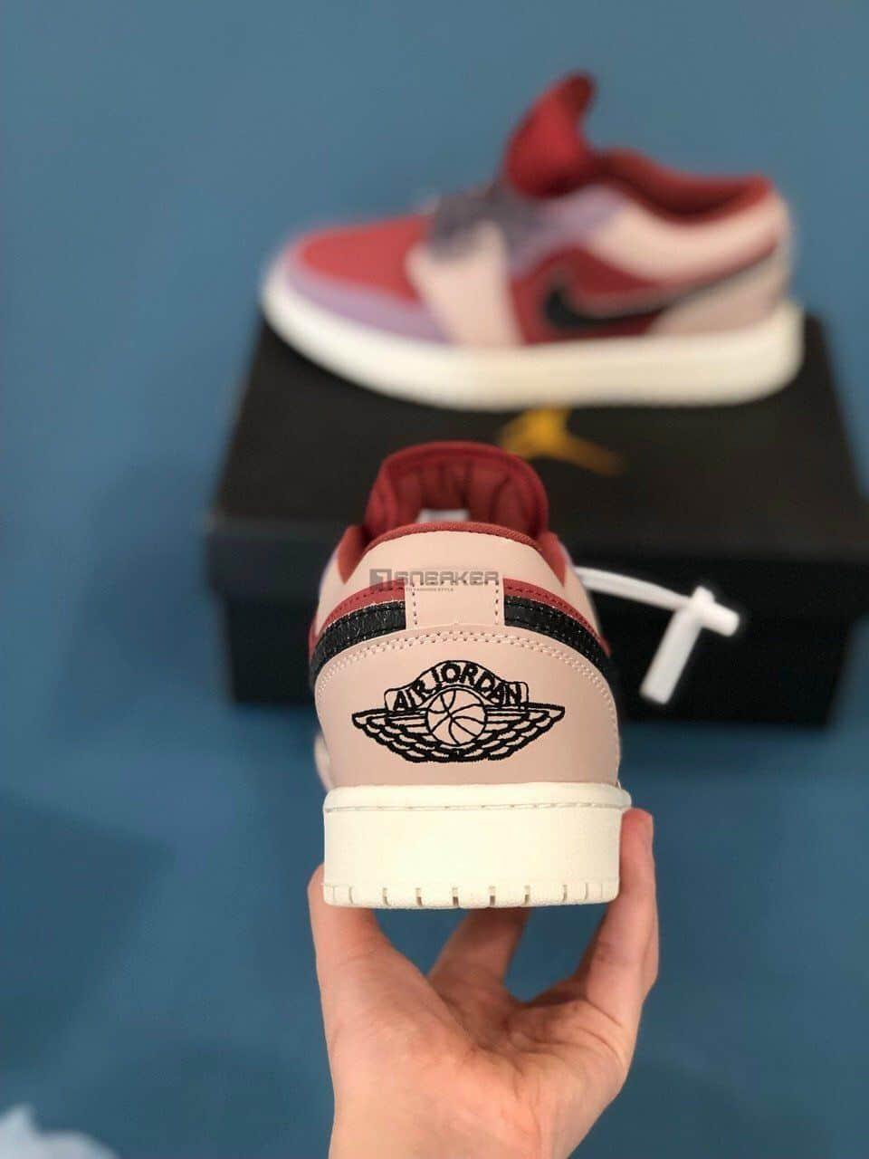 Gót giày Nike Air Jordan 1 Low Canyon Rust