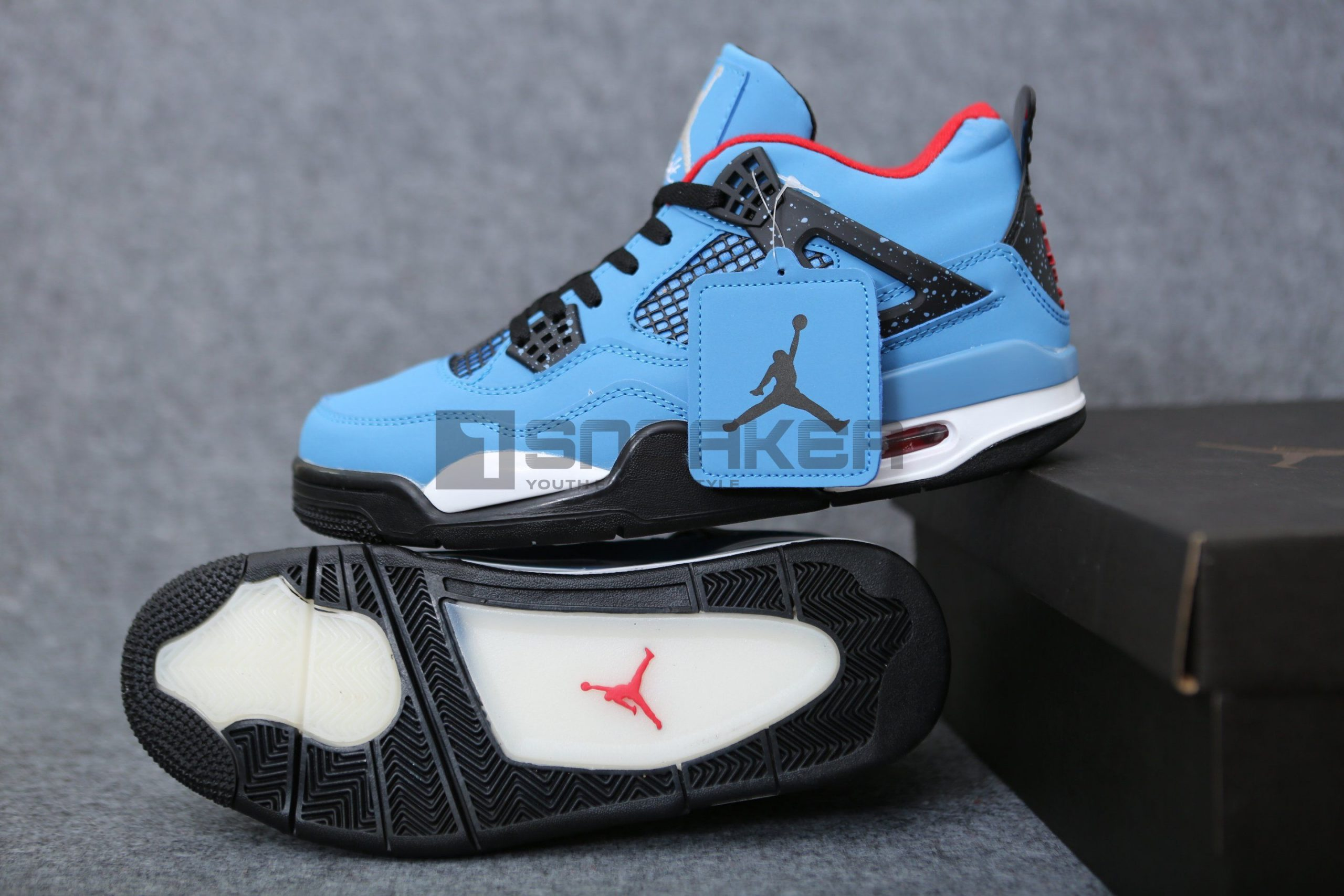 Giay Nike Air Jordan 4 Travis Scott Pk God Factory 5 scaled