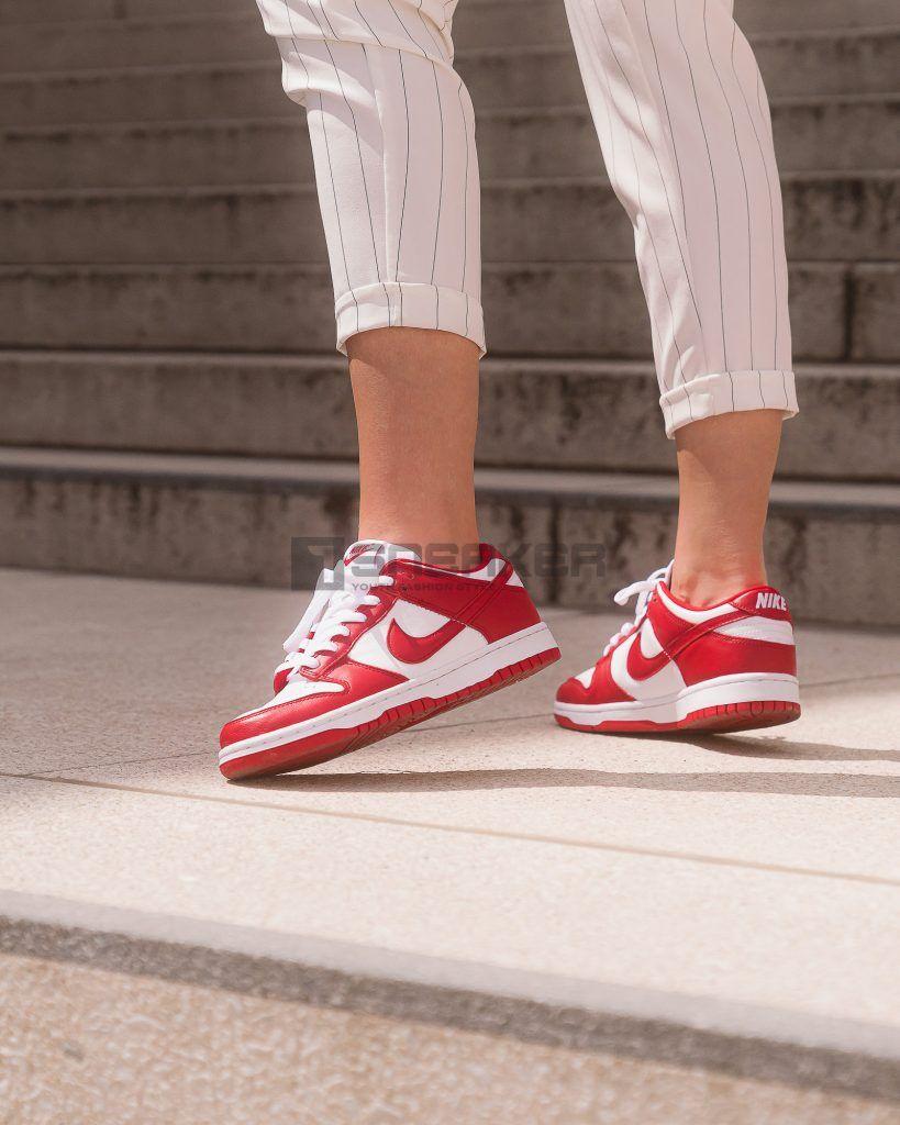 Nike Dunk Đỏ Low University Red sắc sảo