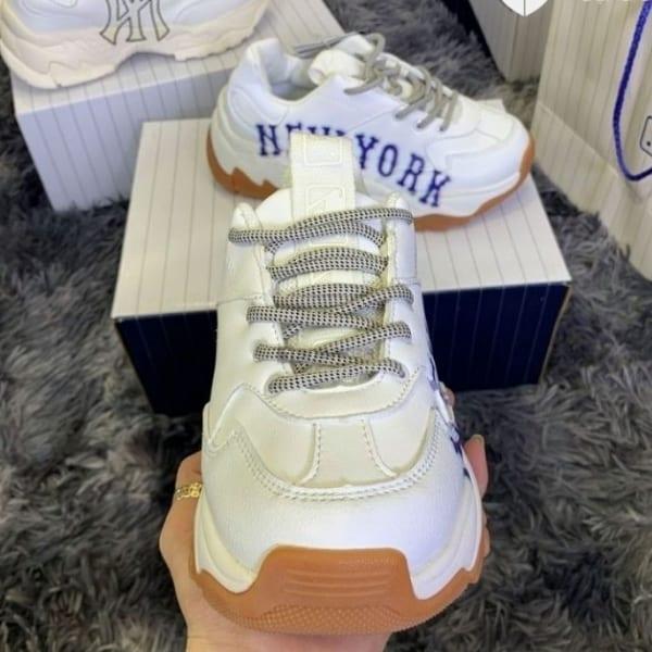 Giày MLB New York trắng chữ xanh hàng replica