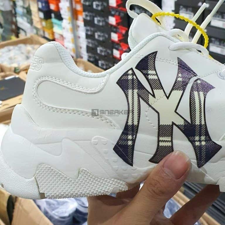 Giày MLB new york yankees Logo Kẻ giá rẻ chất lượng