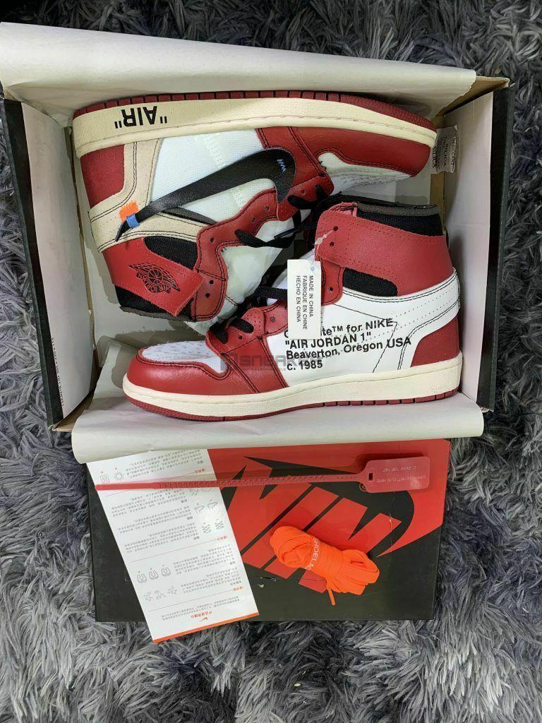 Jordan 1 Chicago Off White Pk God Factory