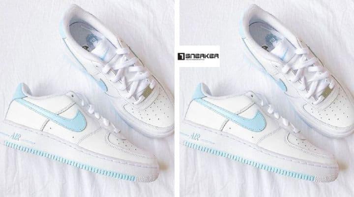 Giày nike air force 1 xanh dương