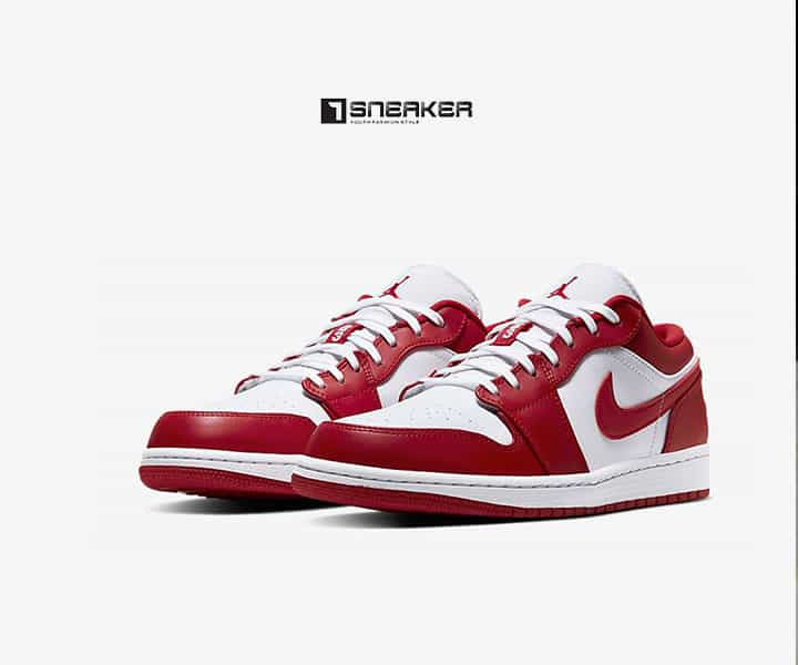 Giày Nike nam cổ thấp Nike Air Jordan 1 Low Gym Red White