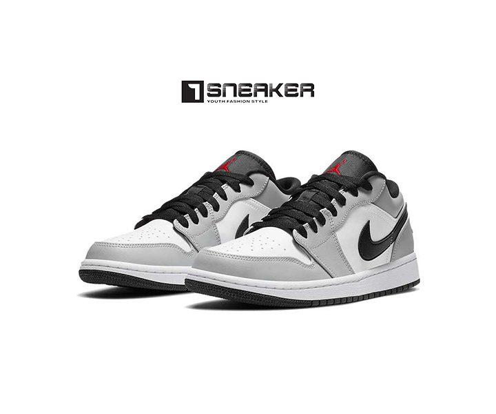 Giày Nike nam màu xám Nike Air Jordan 1 Low Light Smoke Grey