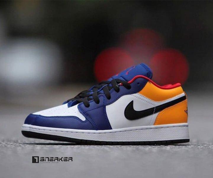 Giày Nike nam màu vàng Nike Air Jordan 1 Low Royal Yellow