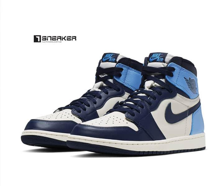 Giày Nike nam xanh Nike Air Jordan 1 Retro High OG Obsidian