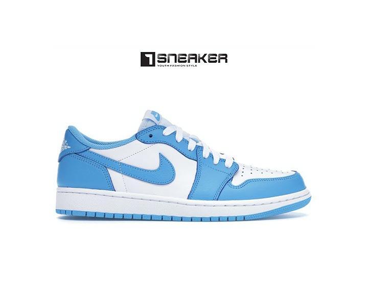 Giày Nike nữ màu xanh dương Jordan 1 Low SB UNC