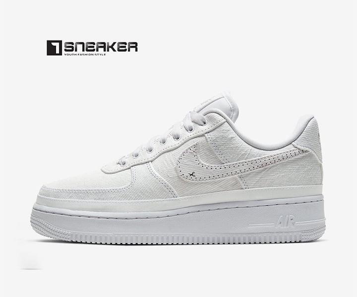Giày Sneaker nam trắng đế cao
