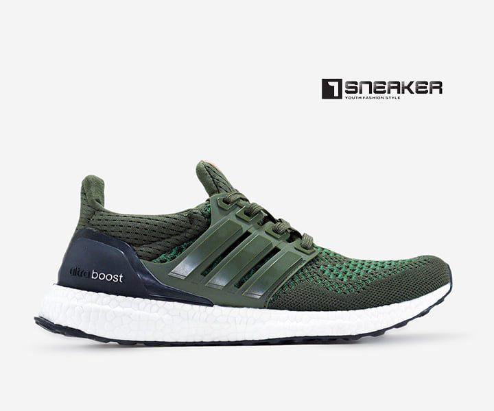 Giày Ultra Boost xanh rêu