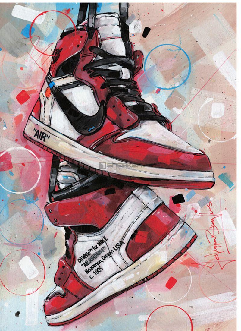 Jordan 1 Retro High Off – White Chicago đôi giày của sự may mắn